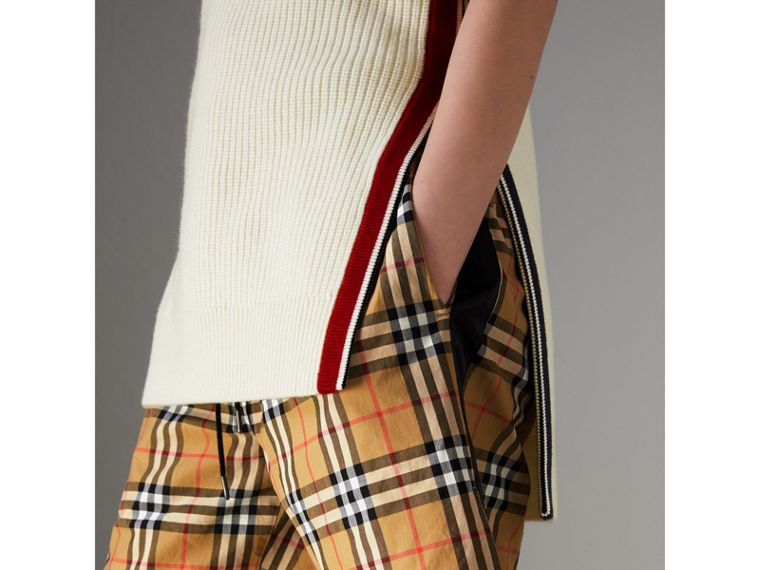 Vintage Check Drawstring Shorts in Antique Yellow - Women | Burberry United Kingdom - cell image 4