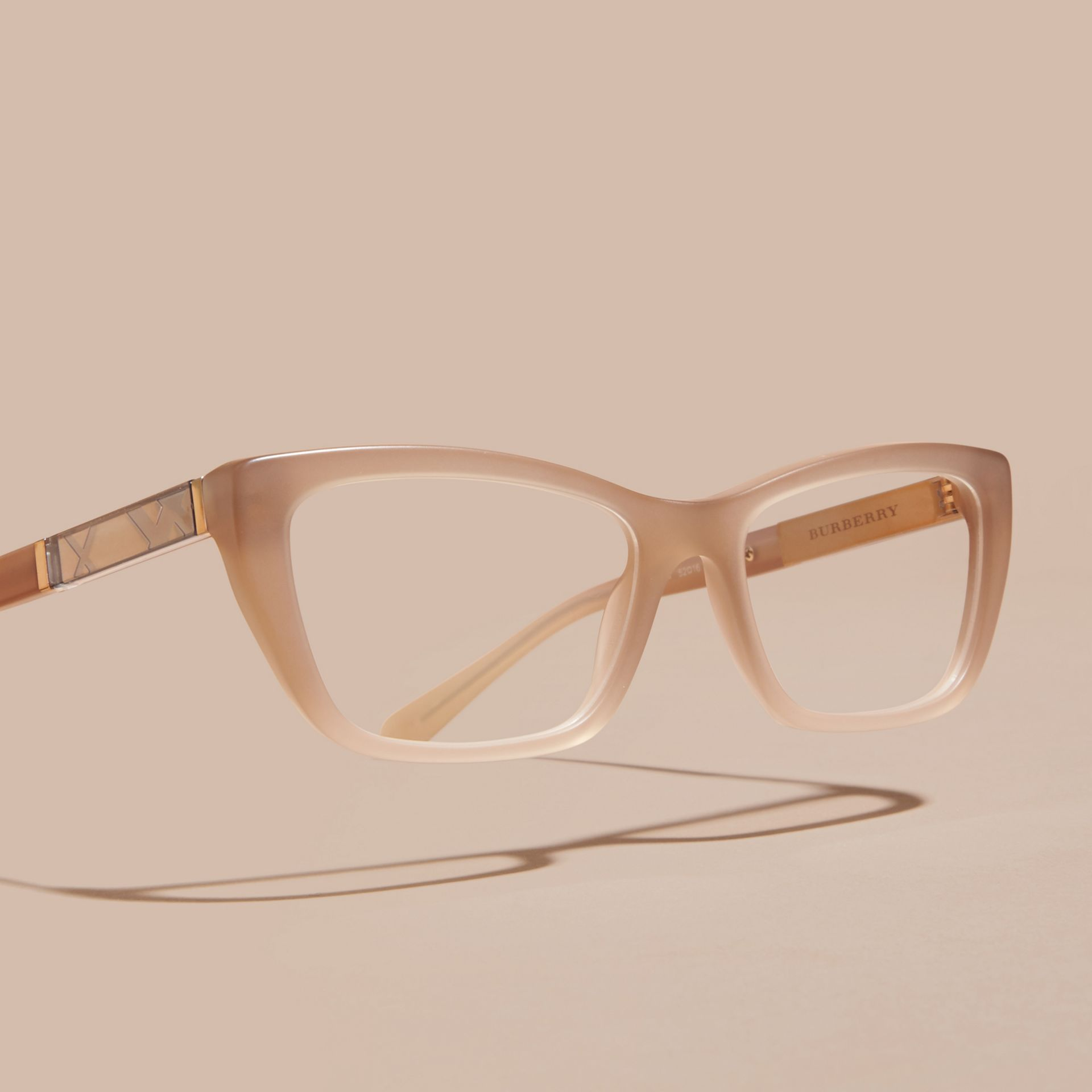Chino grey Check Detail Rectangular Optical Frames - gallery image 3