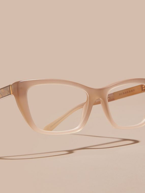 Chino grey Check Detail Rectangular Optical Frames - cell image 2