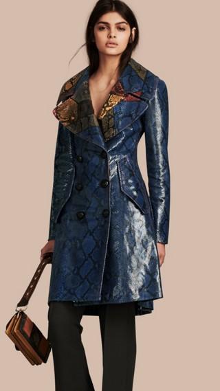 Regimental Glossy Python Coat