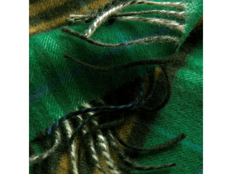 Check Cashmere Scarf in Forest Green | Burberry - cell image 4