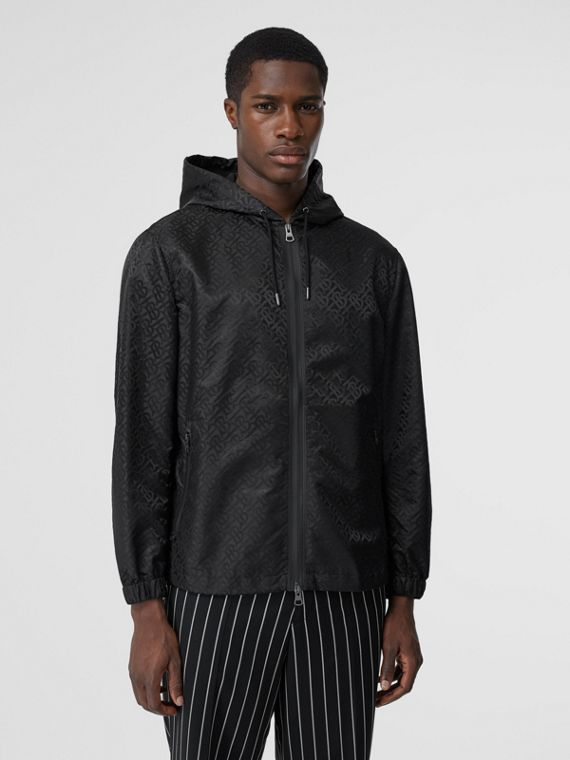Monogram ECONYL® Jacquard Hooded Jacket in Black