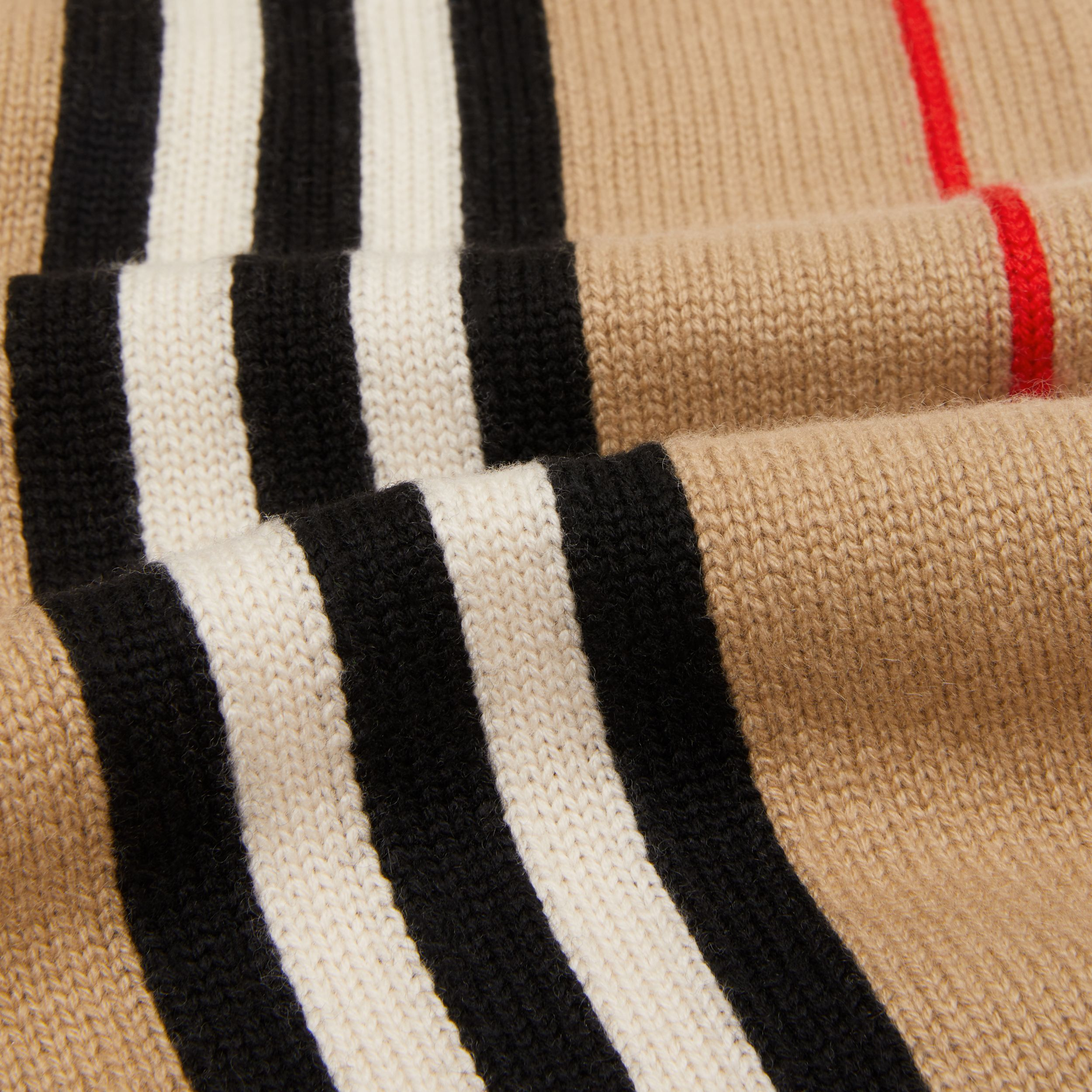 Icon Stripe Cashmere Wool Scarf in Archive Beige - Children | Burberry United Kingdom - 2