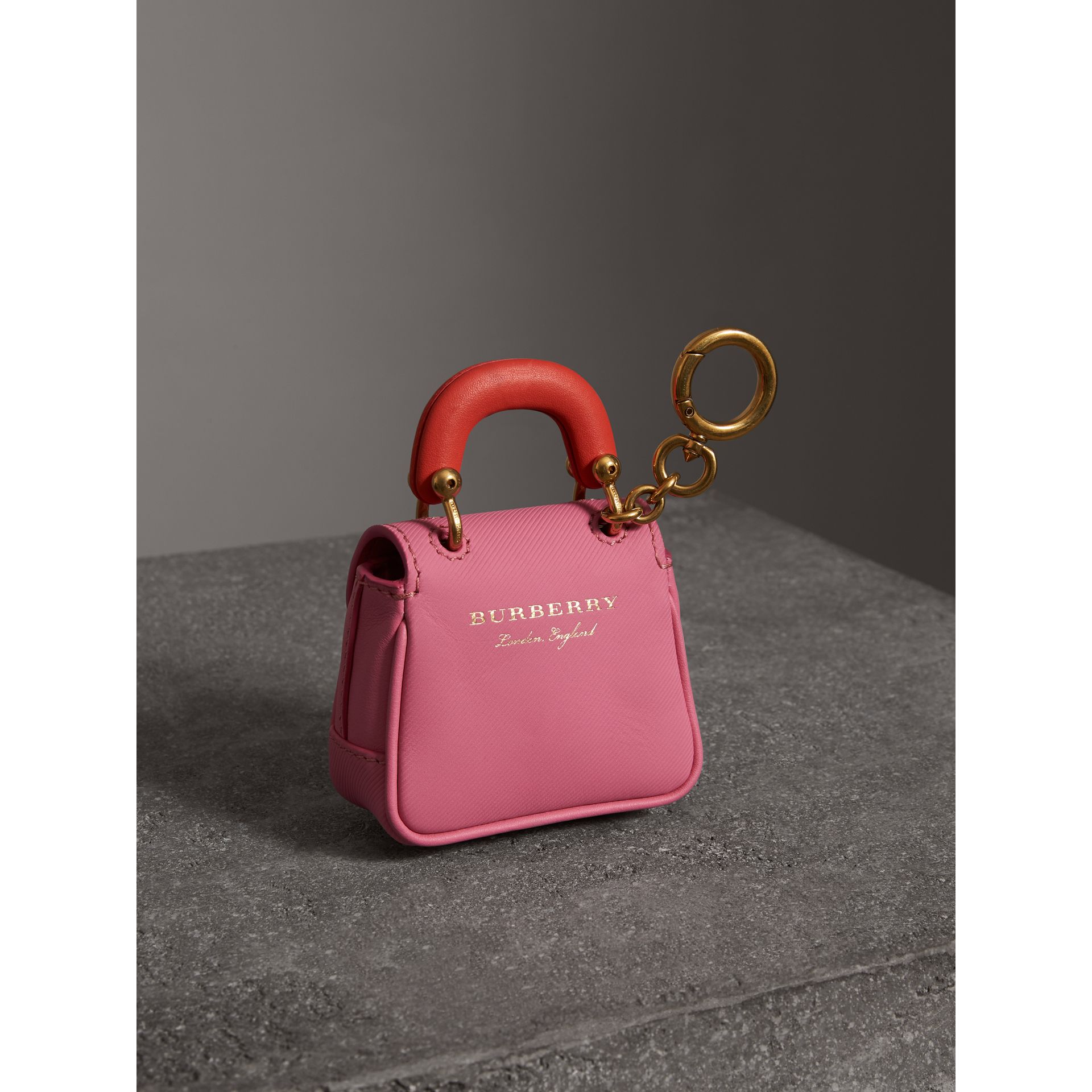 The DK88 Charm in Rose Pink/orange Red | Burberry - gallery image 3