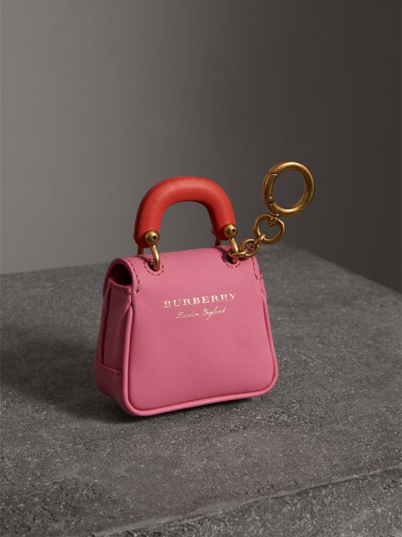 The DK88 Charm in Rose Pink/orange Red | Burberry Hong Kong - cell image 3