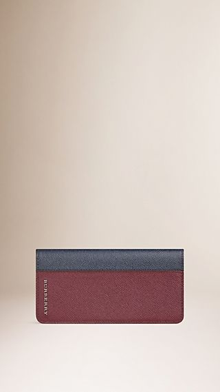 Portefeuille continental color-block en cuir London