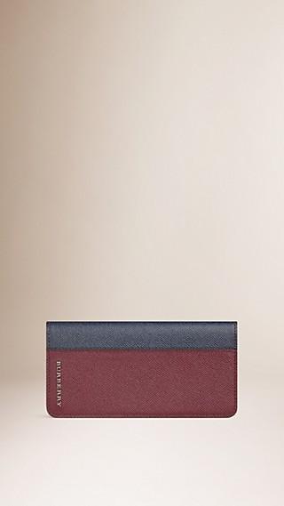 Portafoglio continental in pelle London a blocchi di colore