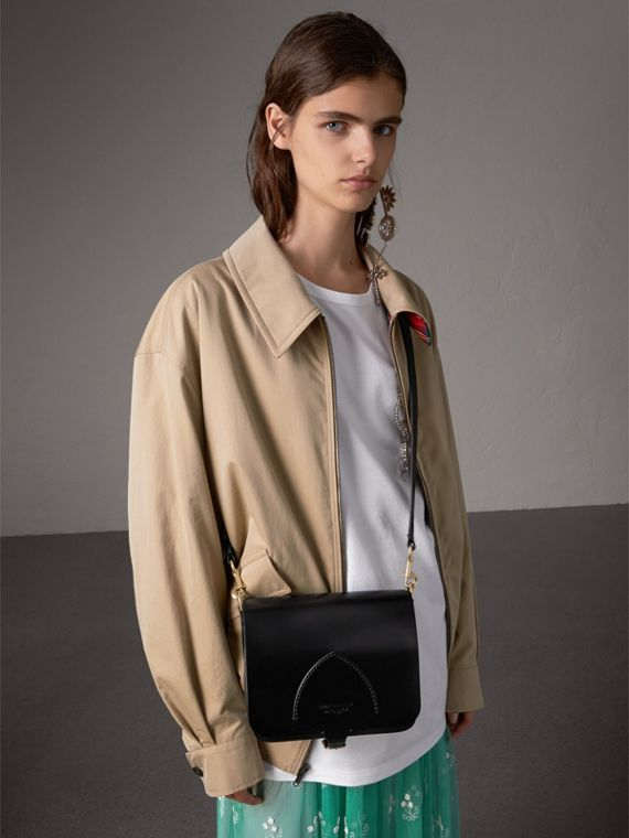 The Satchel squadrata in pelle a briglia (Nero) - Donna | Burberry - cell image 2