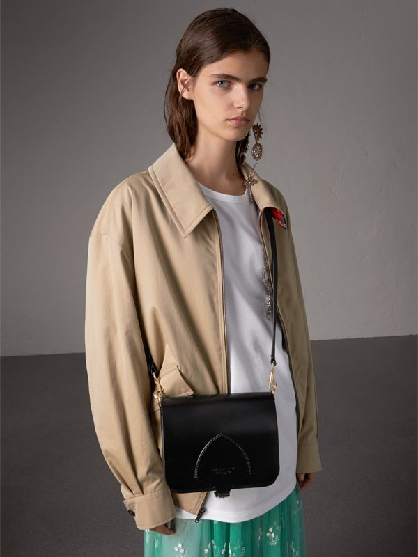 The Square Satchel in Bridle Leather in Black - Women | Burberry Singapore - cell image 2
