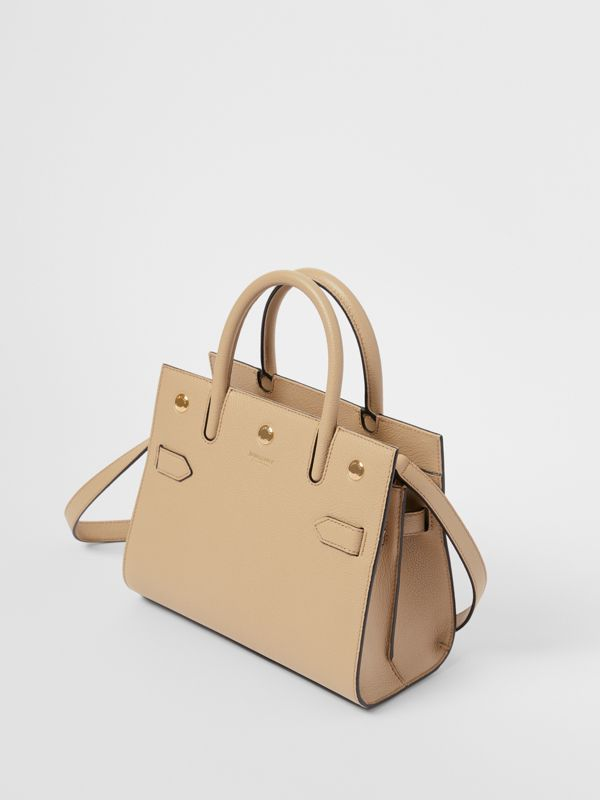 Mini Leather Two-handle Title Bag in Light Beige - Women | Burberry United Kingdom - cell image 3
