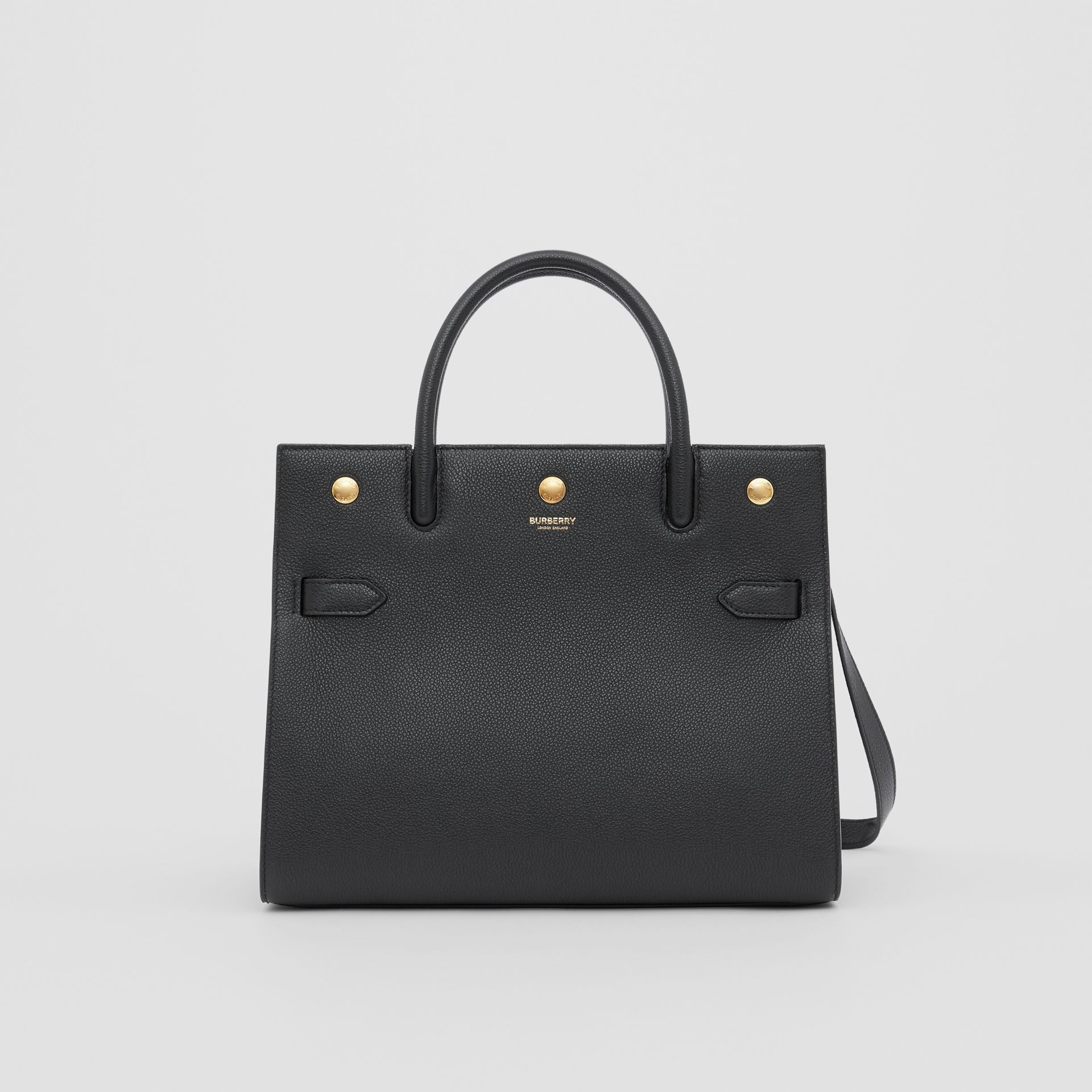 Small Leather Two-handle Title Bag in Black - Women | Burberry Canada - gallery image 0