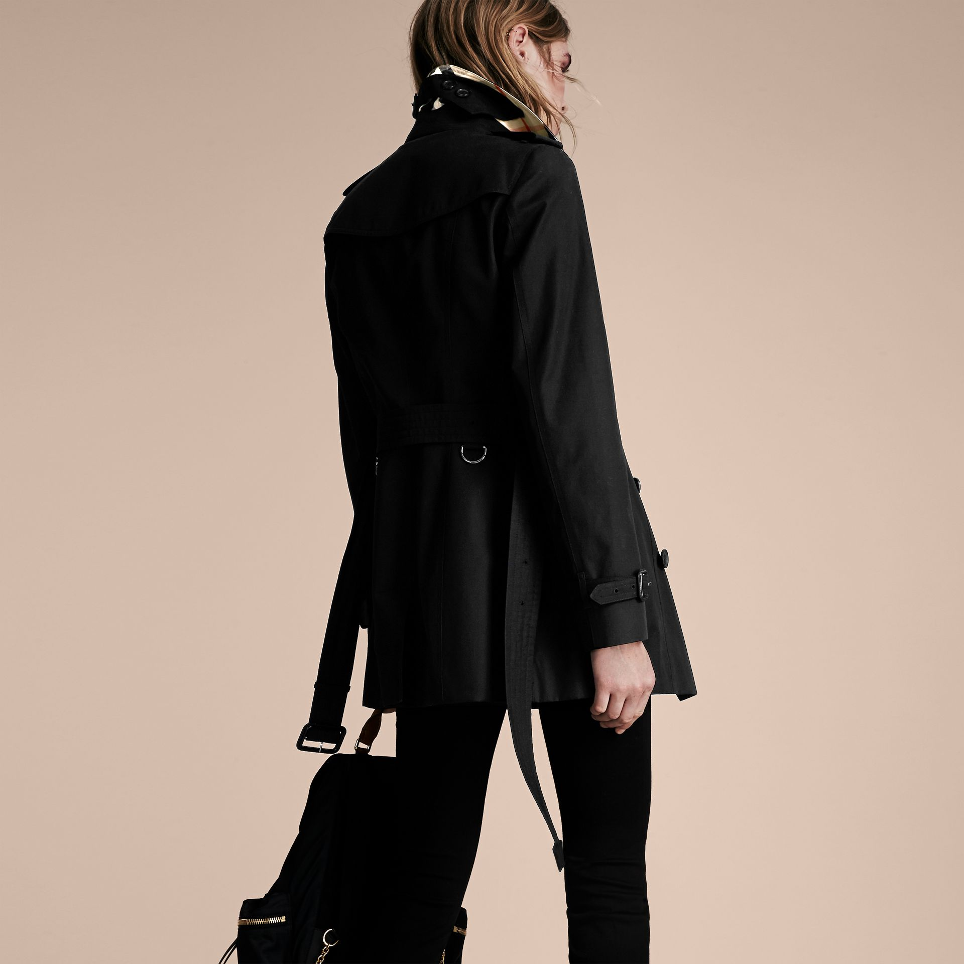 Black The Sandringham – Short Heritage Trench Coat Black - gallery image 3