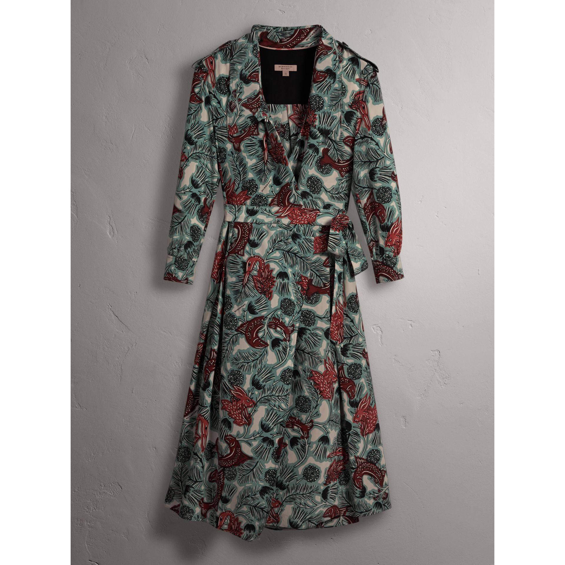 Beasts Print Silk Wrap Dress - Women | Burberry Australia - gallery image 4