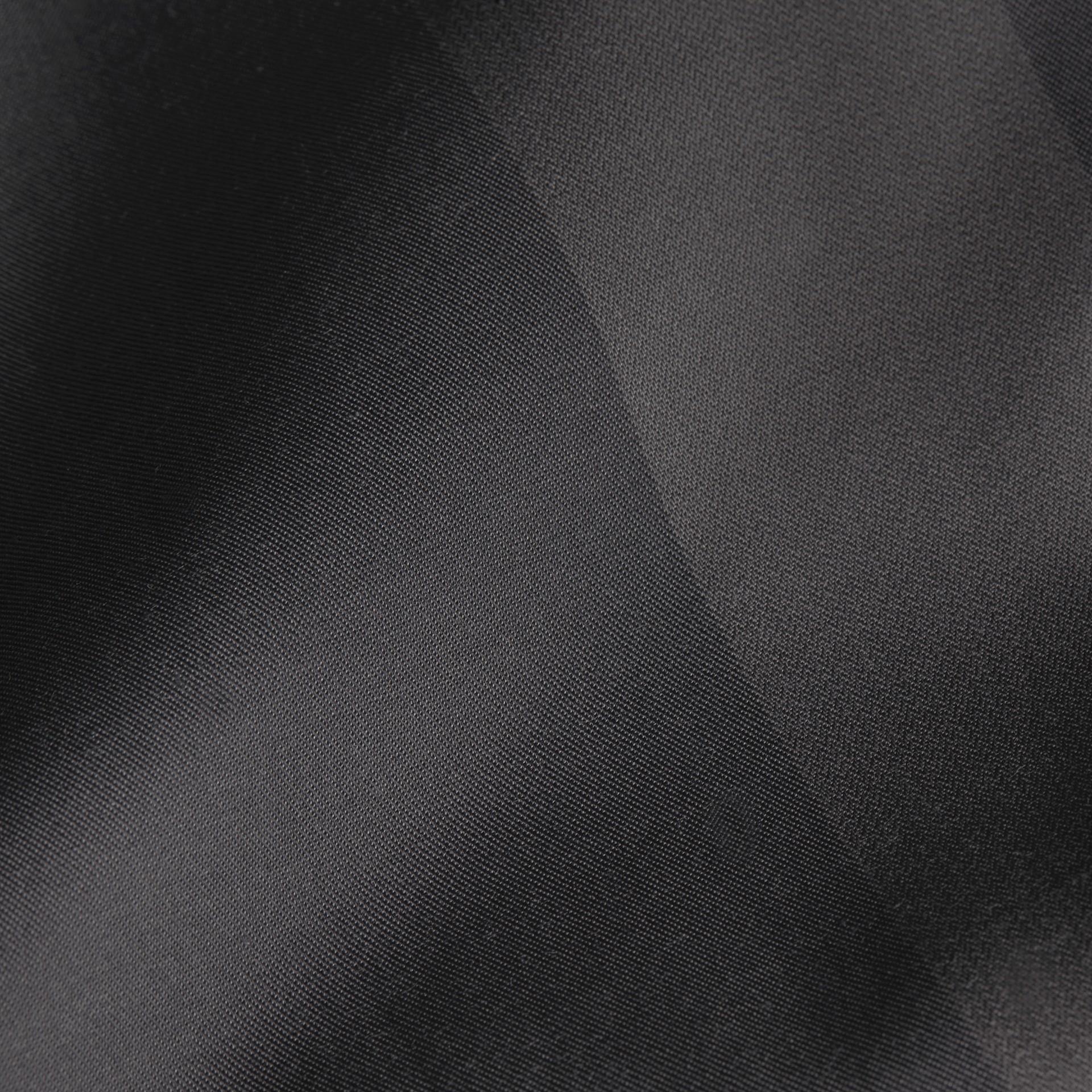 Charcoal Camisa de algodão com estampa xadrez e mangas curtas Charcoal - galeria de imagens 2