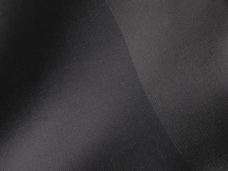Anthrazitfarben Kurzärmeliges Baumwollhemd mit Check-Muster Anthrazitfarben - cell image 1