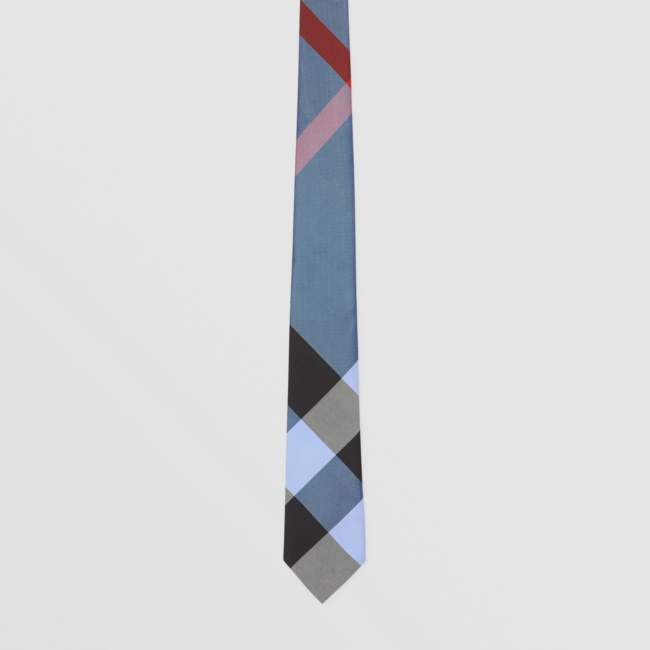 Classic Cut Check Silk Jacquard Tie in Bright Steel Blue - Men | Burberry - 4