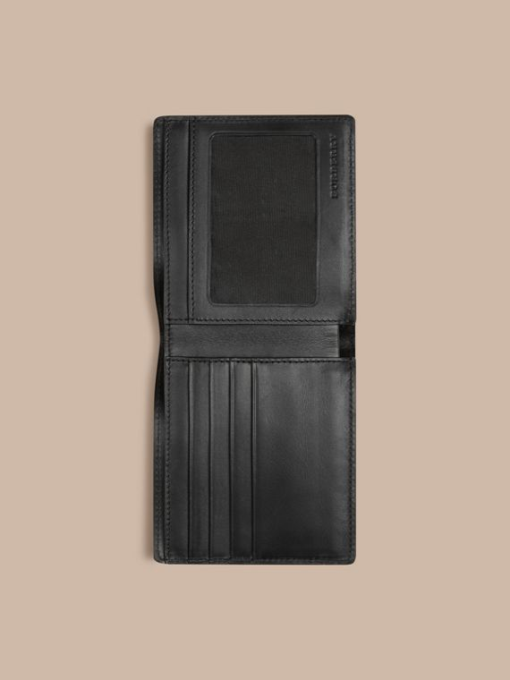 London Check ID Wallet in Chocolate/black - cell image 3