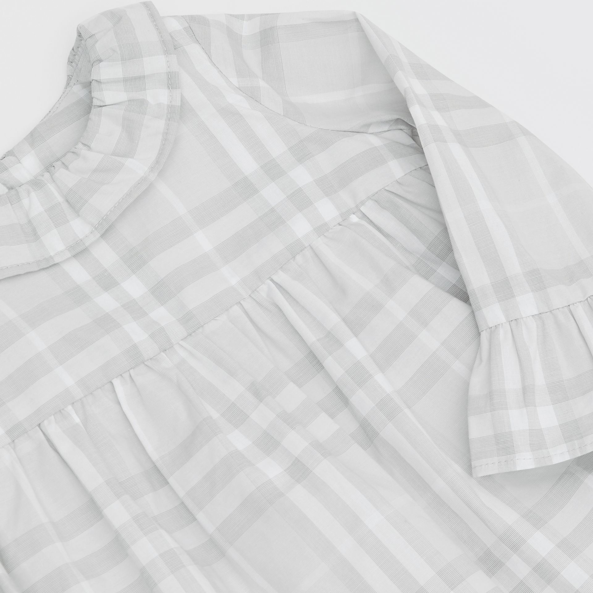 Long-sleeve Vintage Check Cotton Dress in Pale Grey - Children | Burberry - gallery image 1