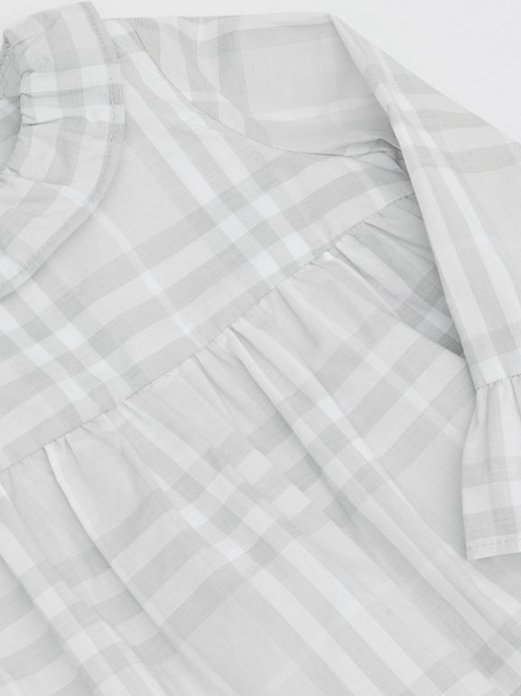 Long-sleeve Vintage Check Cotton Dress in Pale Grey - Children | Burberry - cell image 1