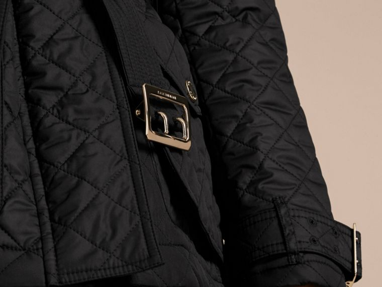 Black Buckle Detail Technical Field Jacket Black - cell image 4