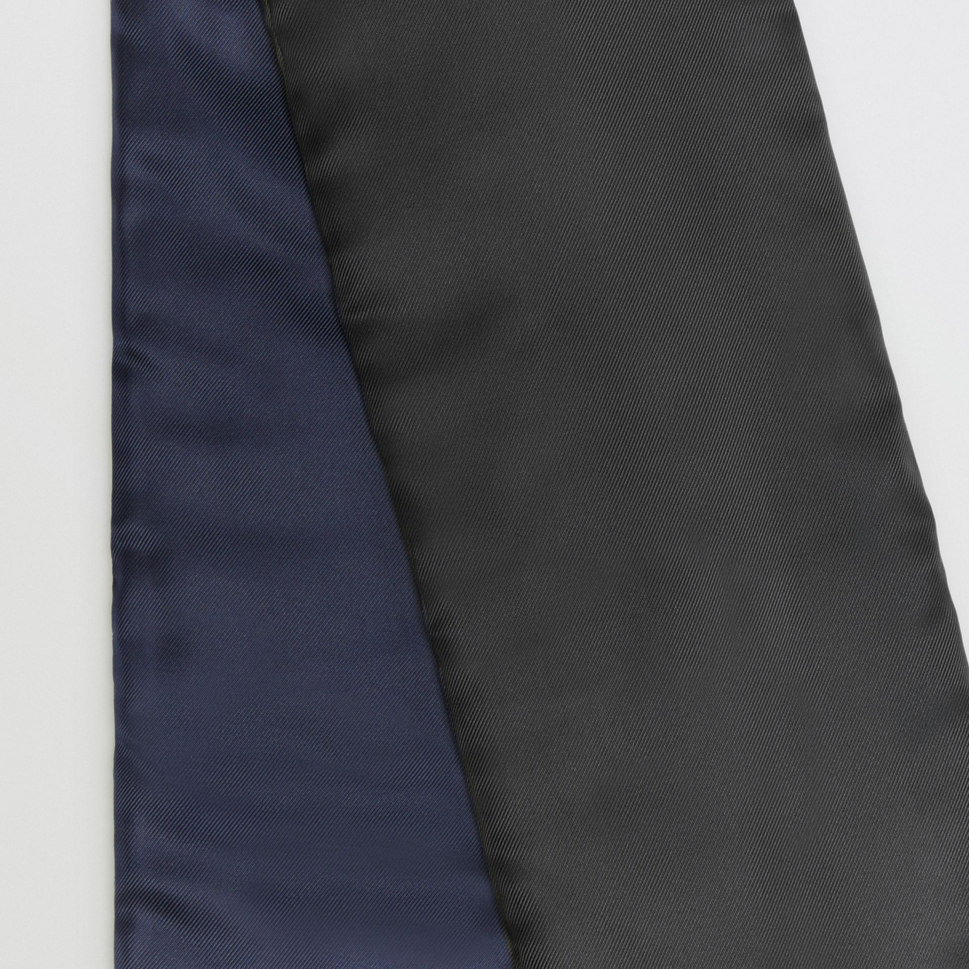 Two-tone Silk Puffer Scarf in Black - Women | Burberry United Kingdom - gallery image 3