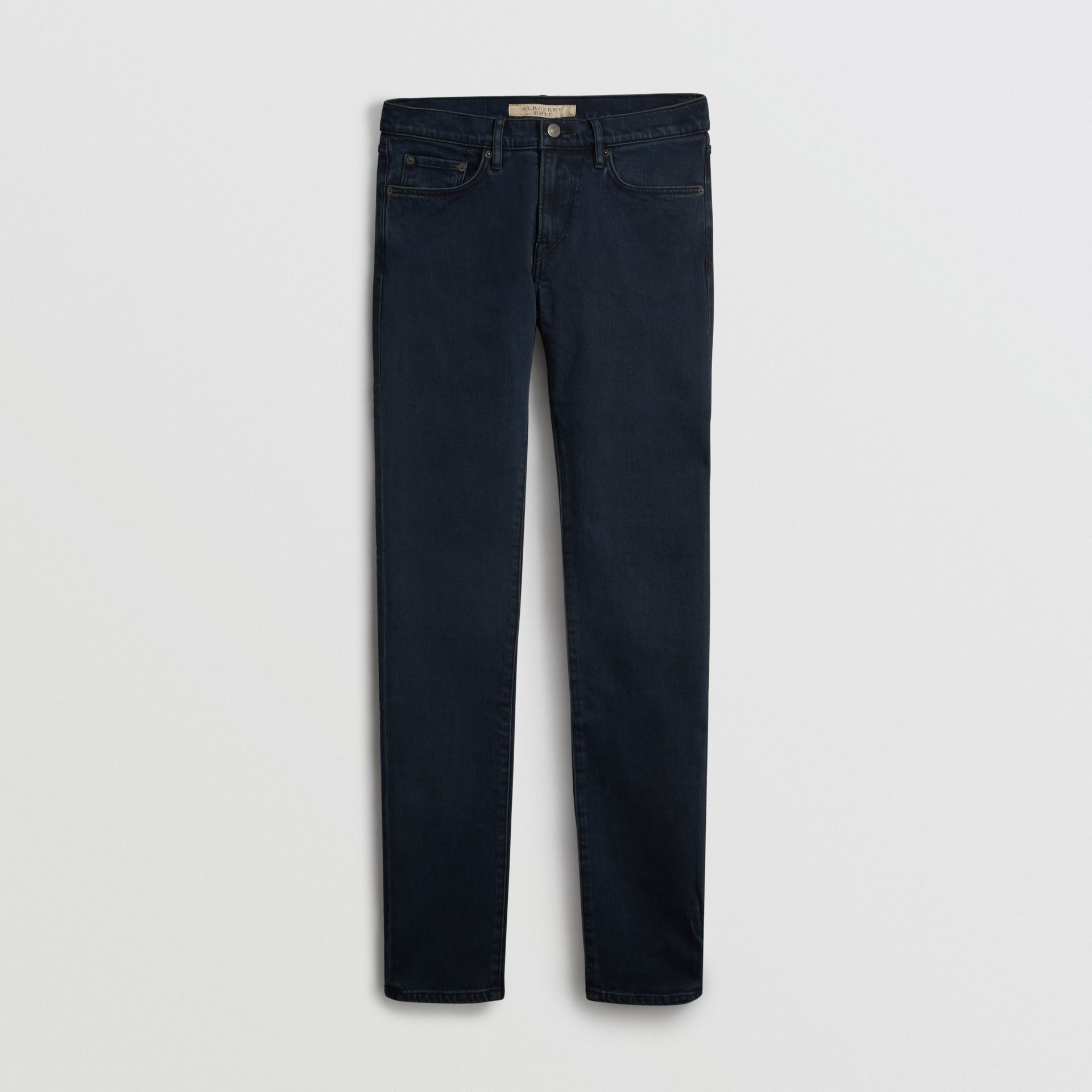 Jean de coupe slim en denim extensible (Indigo Sombre) - Homme | Burberry Canada - photo de la galerie 3
