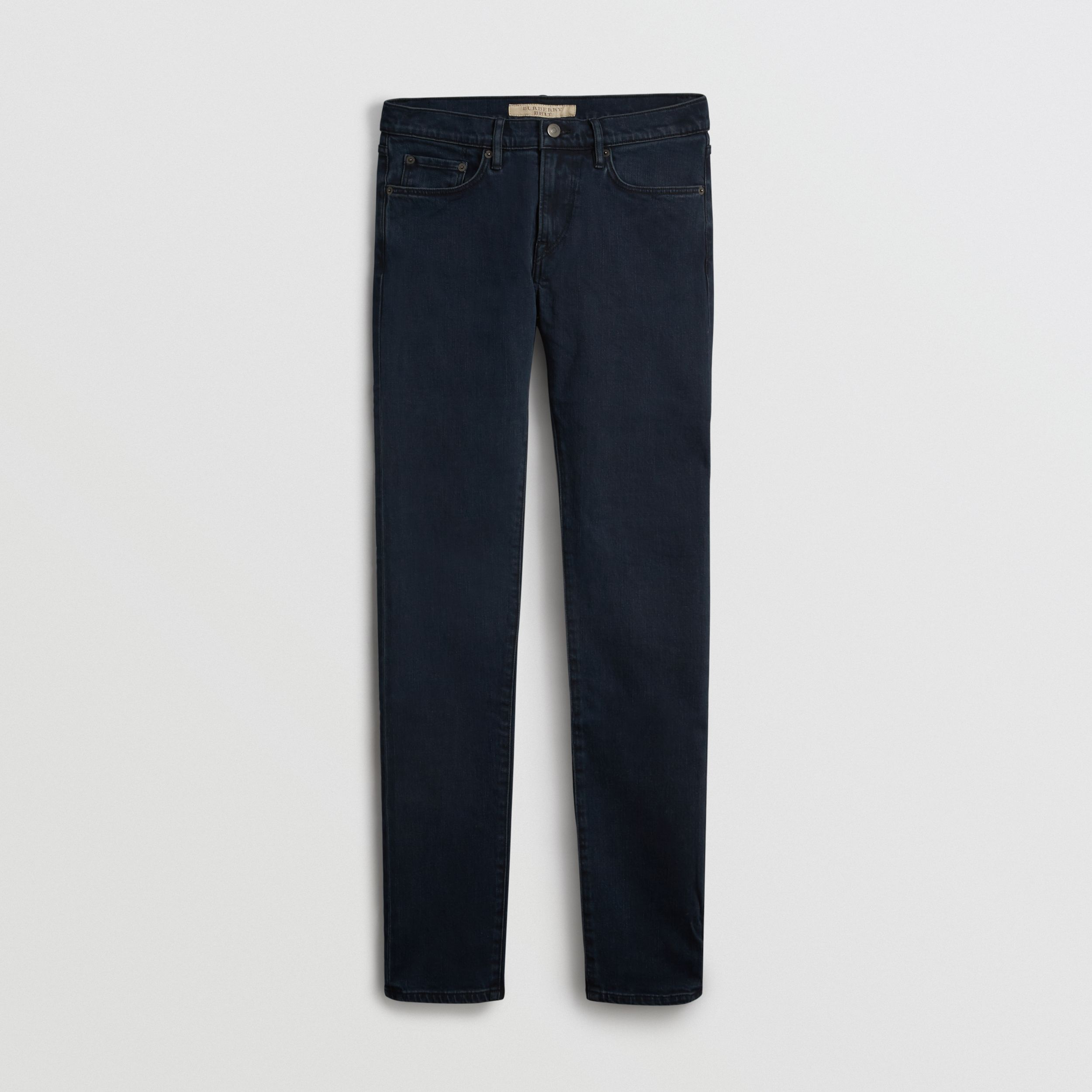 Slim Fit Stretch Denim Jeans in Dark Indigo - Men | Burberry - 4