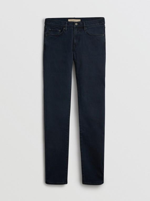 Jeans slim in denim stretch (Indaco Scuro)