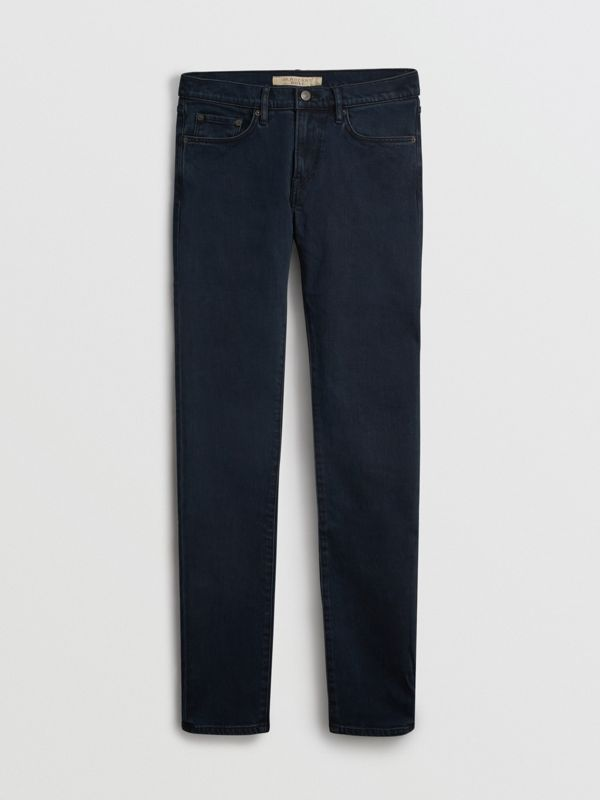 Slim Fit Stretch Denim Jeans in Dark Indigo - Men | Burberry Singapore - cell image 3