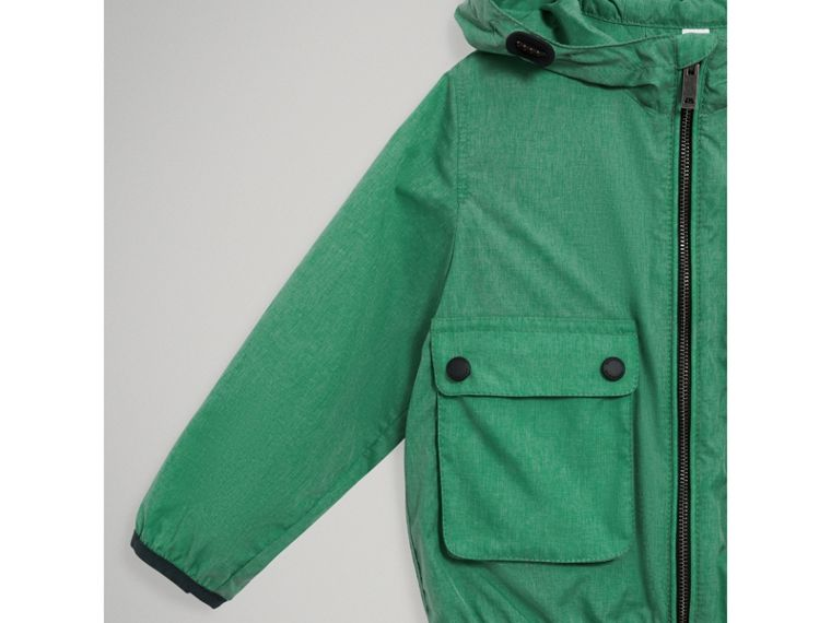 Showerproof Hooded Jacket in Vibrant Green - Boy | Burberry United States - cell image 4