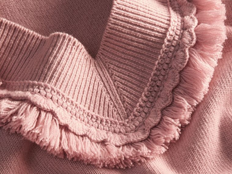 Blossom Fringed Off-the-shoulder Cashmere Sweater Blossom - cell image 1