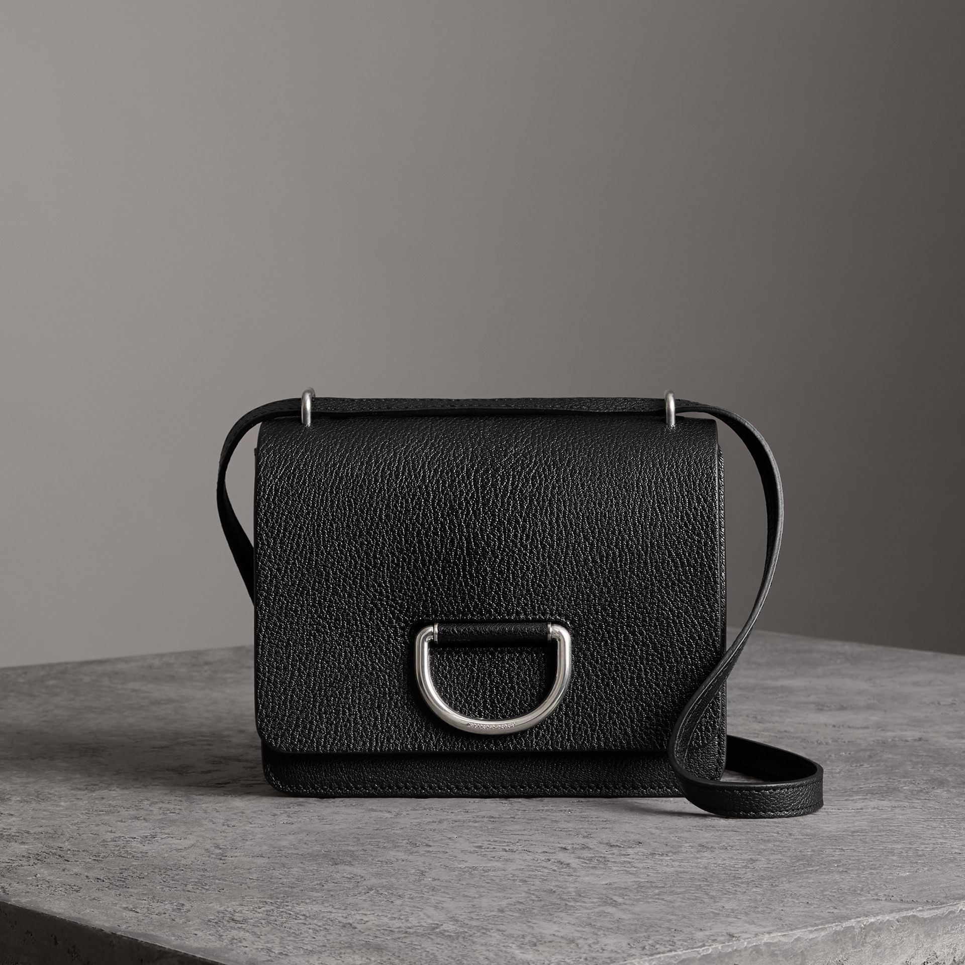 The Small Leather D-ring Bag in Black - Women | Burberry United States - gallery image 0