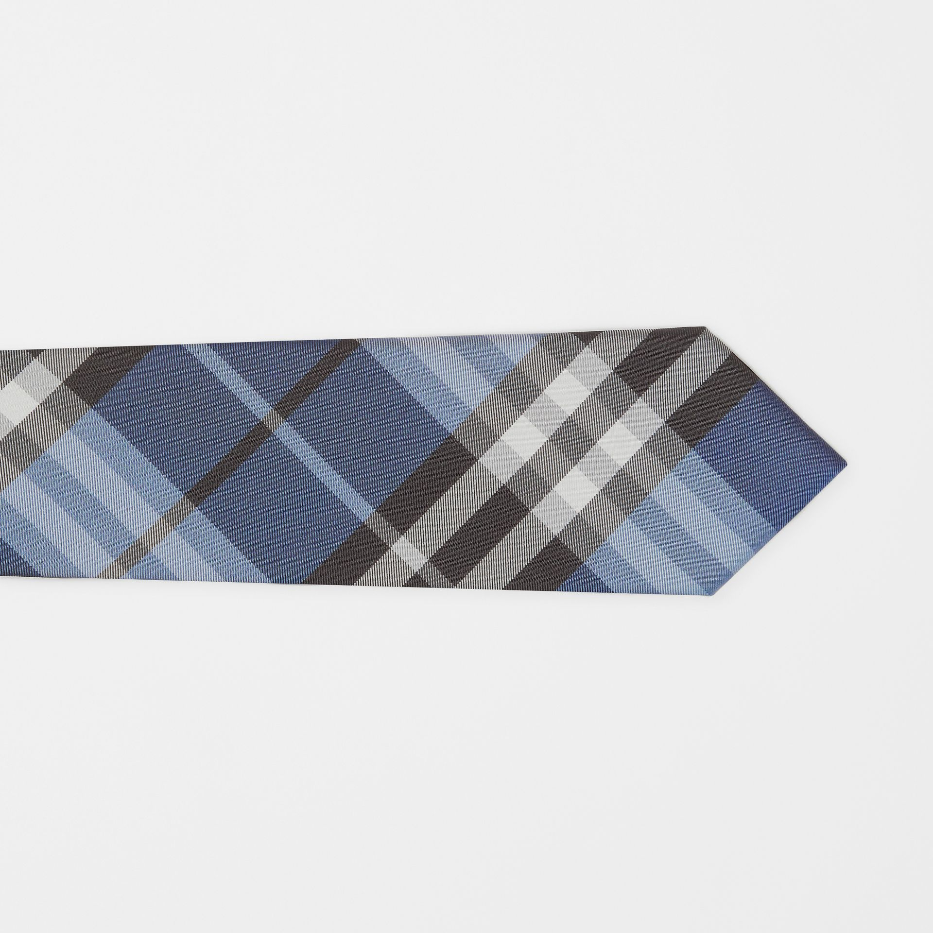 Modern Cut Vintage Check Silk Tie in Steel Blue - Men | Burberry - gallery image 1