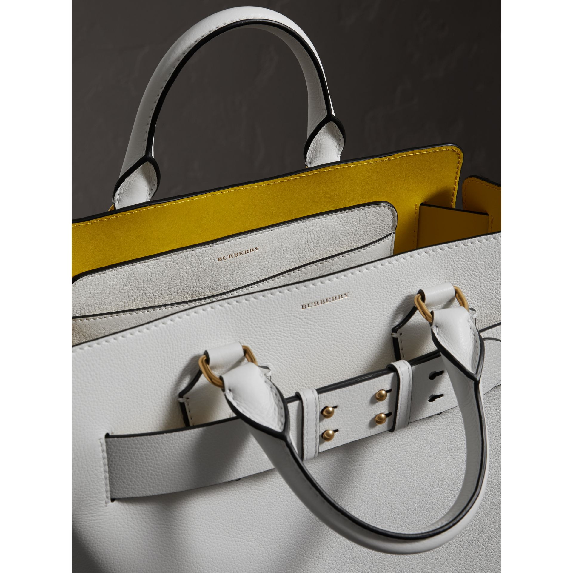 The Medium Leather Belt Bag in Chalk White - Women | Burberry - gallery image 5