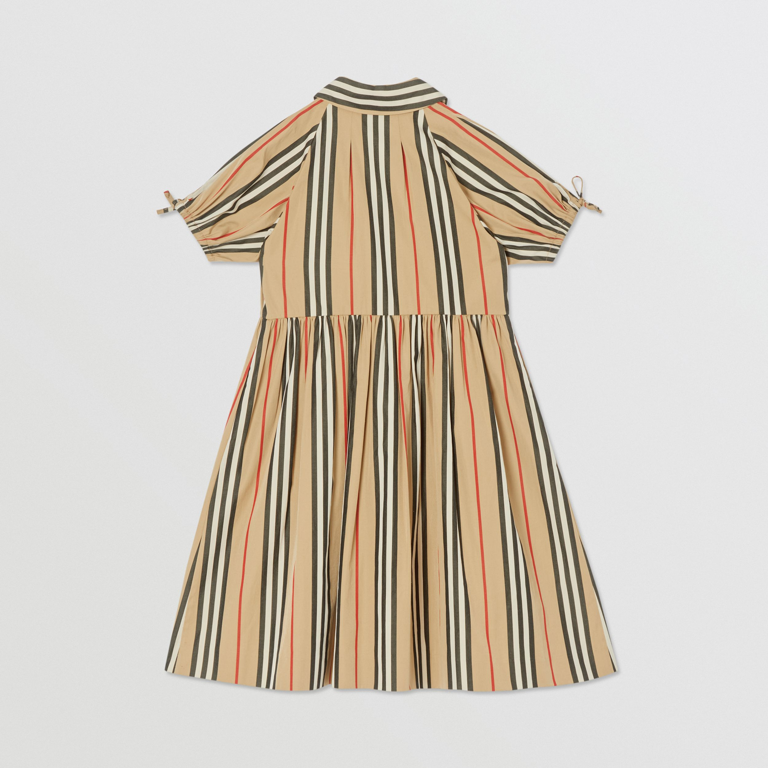 Icon Stripe Cotton Poplin Dress in Archive Beige | Burberry - 4