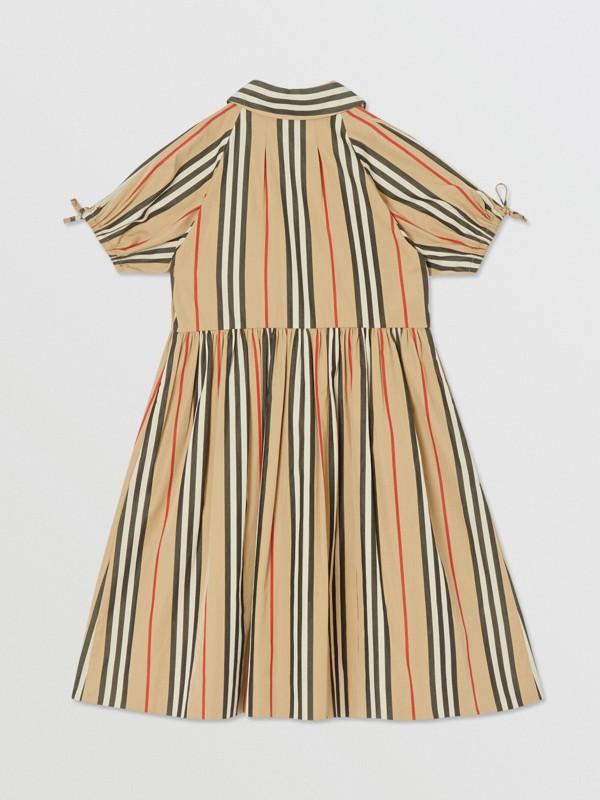 Icon Stripe Cotton Poplin Dress in Archive Beige | Burberry United Kingdom - cell image 3