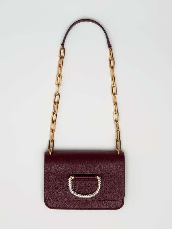The Mini Leather Crystal D-ring Bag in Deep Claret - Women | Burberry - cell image 2