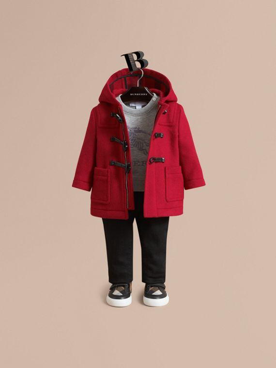 Duffle-coat en laine (Rouge Parade)
