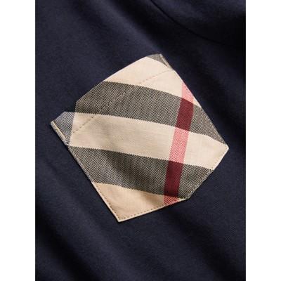 Burberry - T-shirt en coton à manches longues avec poche à motif check - 2