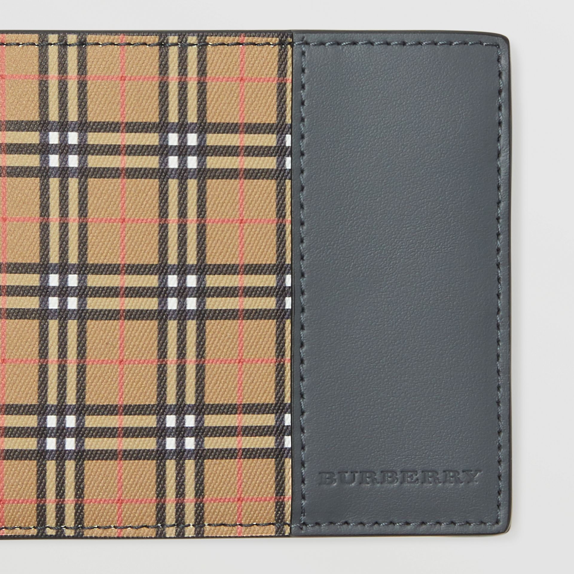 Small Scale Check International Bifold Wallet in Antique Yellow/dark Grey - Men | Burberry - gallery image 1