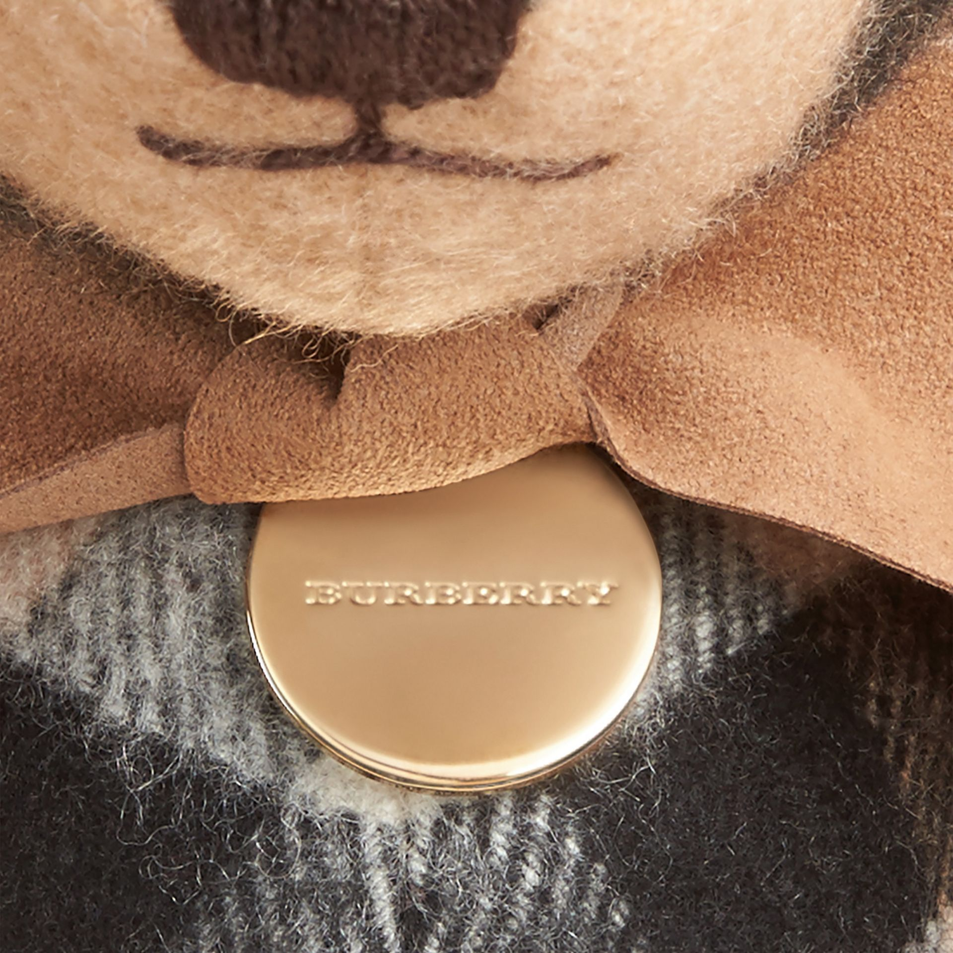 Camel Thomas Bear in Check Cashmere Camel - gallery image 2