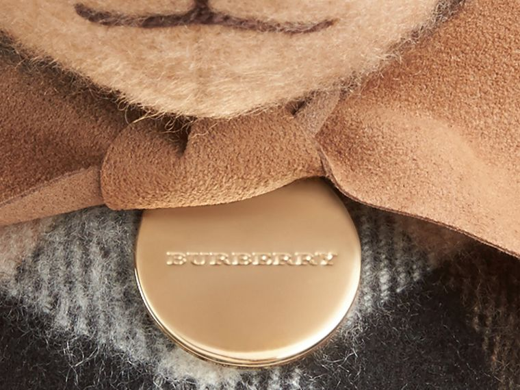 Thomas Bear in Check Cashmere in Camel | Burberry United Kingdom - cell image 1