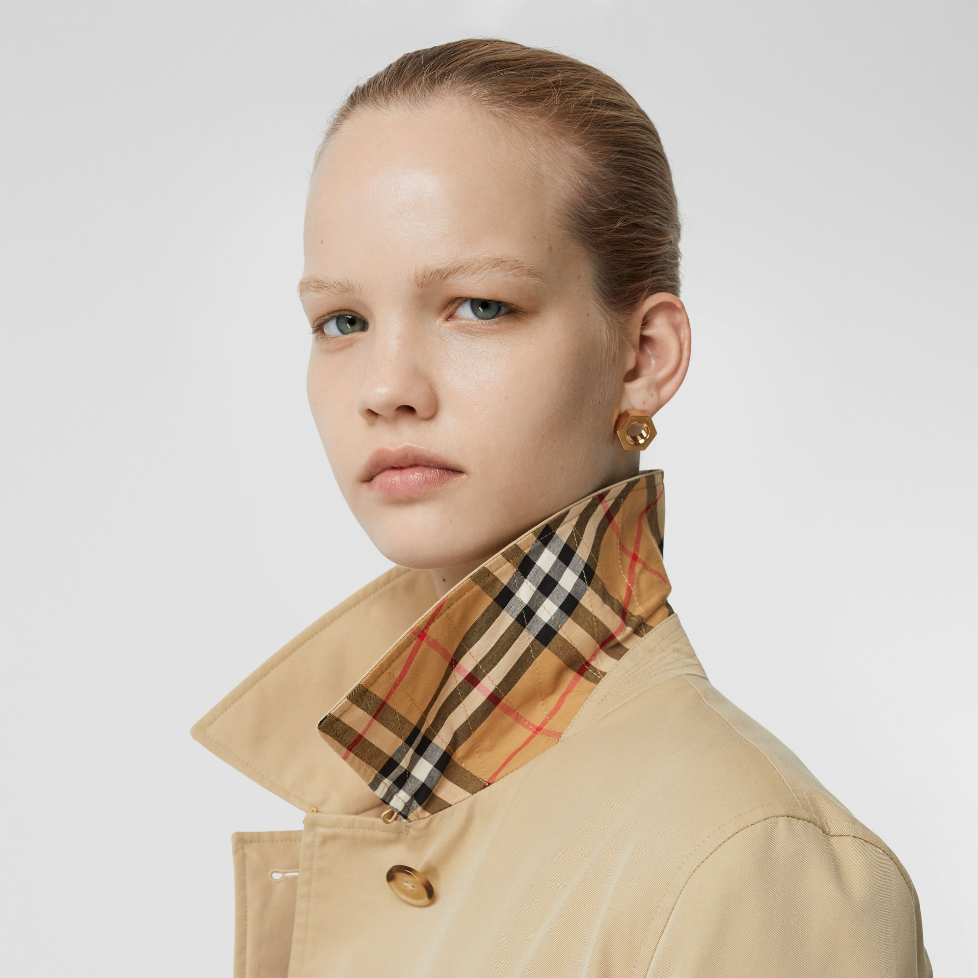 The Pimlico Heritage Car Coat in Honey - Women | Burberry United Kingdom - gallery image 10
