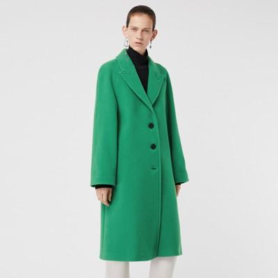 sartoriale Burberry Donna Brillante Cappotto misto lana Verde in 0H1dwq