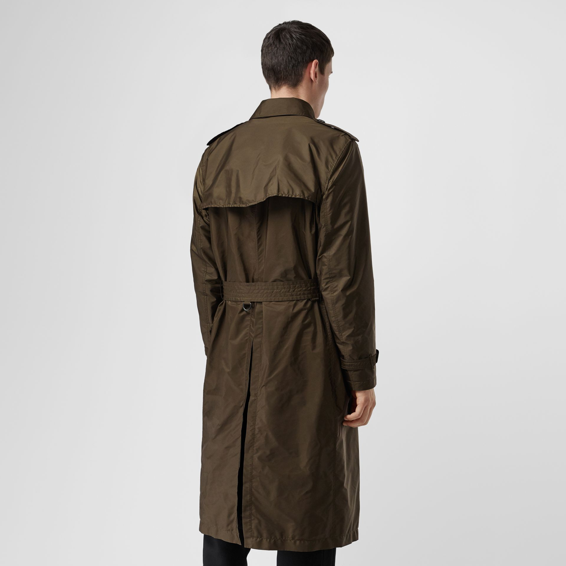 Lightweight Nylon Trench Coat in Military Green - Men | Burberry United Kingdom - gallery image 2