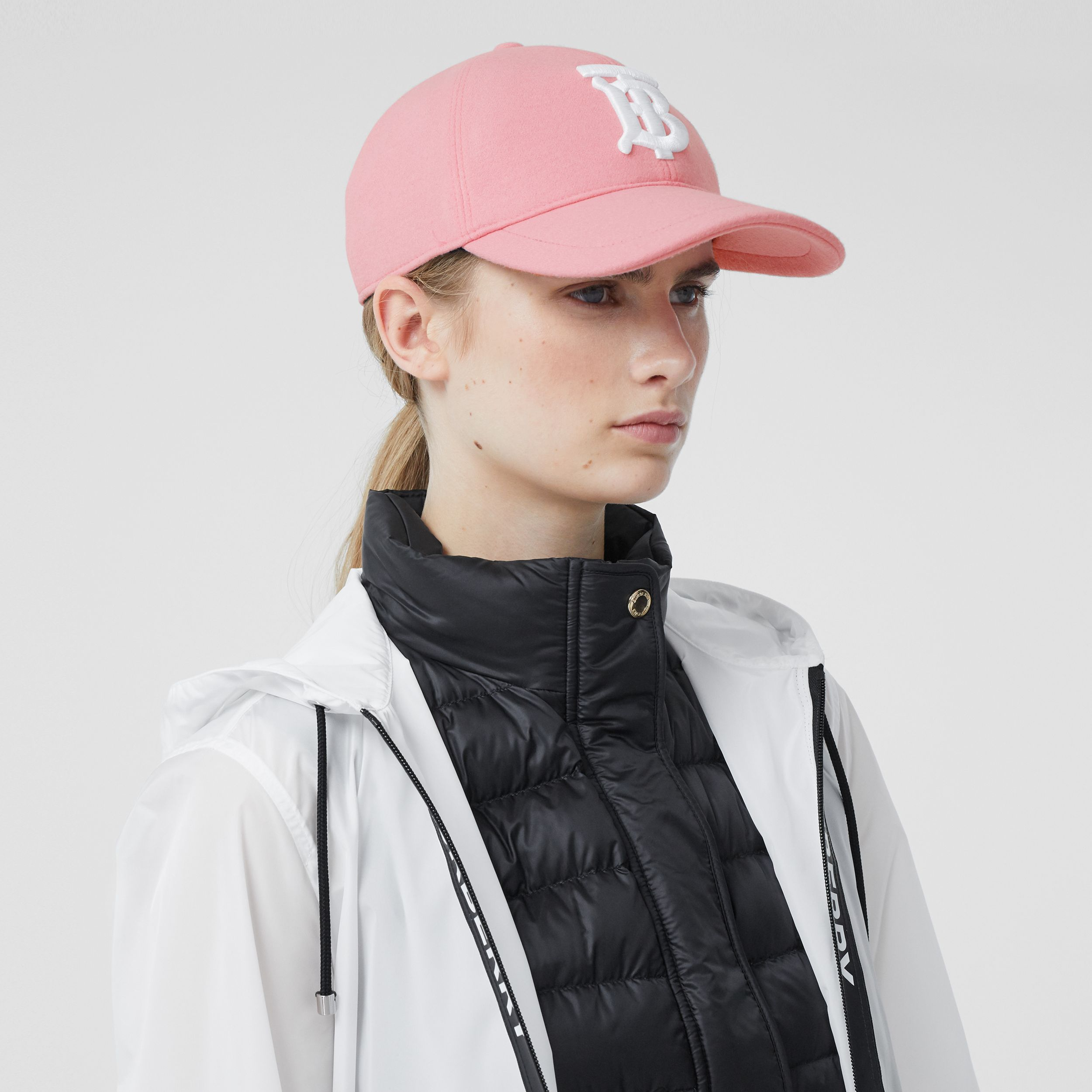Monogram Motif Jersey Baseball Cap in Pink | Burberry - 3