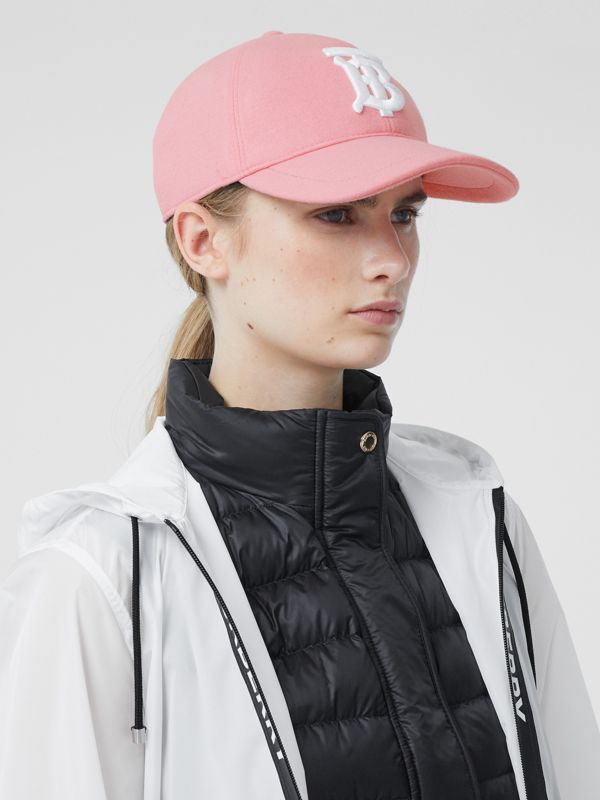 Monogram Motif Jersey Baseball Cap in Pink | Burberry United Kingdom - cell image 2
