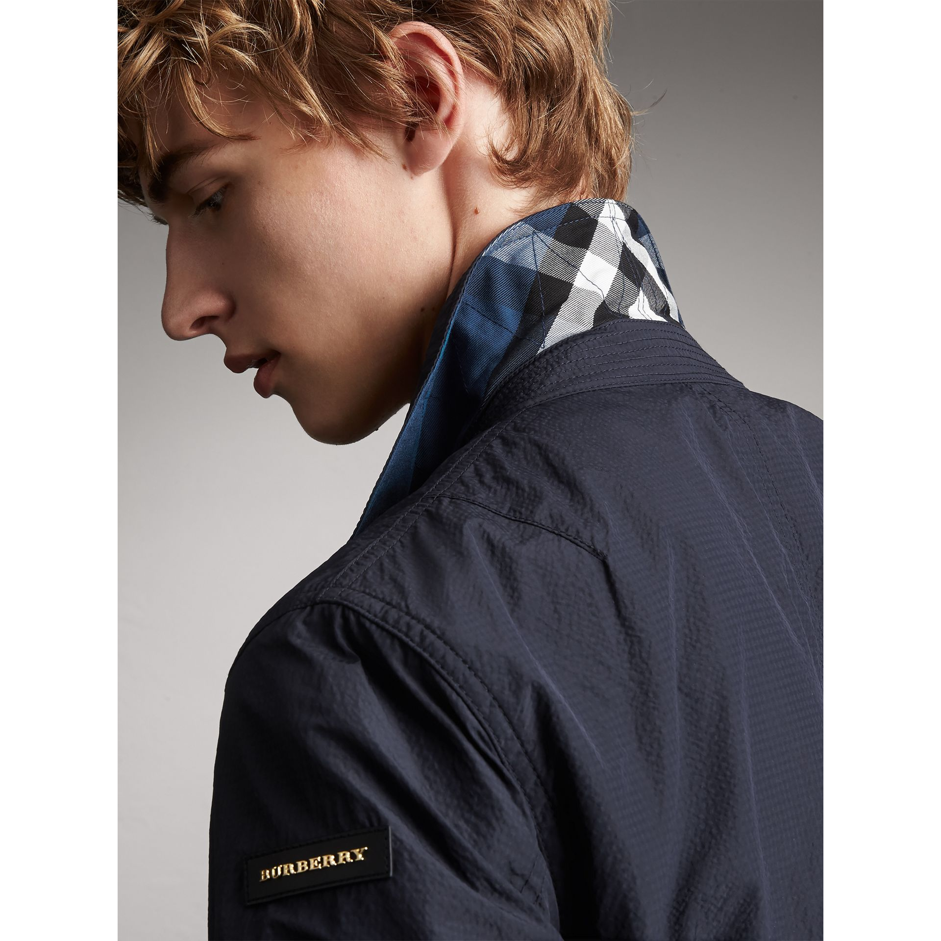 Seersucker Bomber Jacket - Men | Burberry Australia - gallery image 5