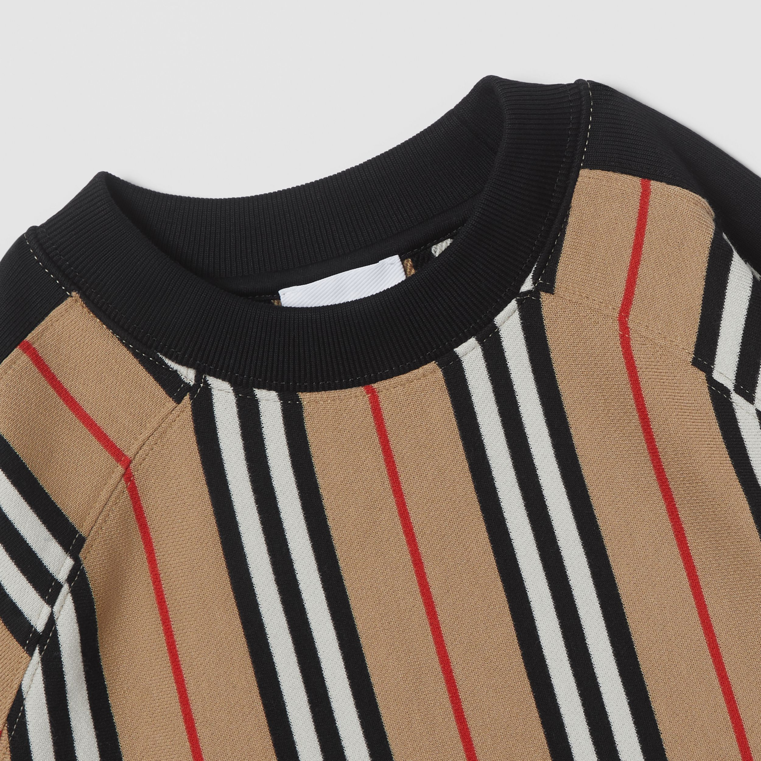 Icon Stripe Cotton Sweatshirt in Archive Beige | Burberry - 2
