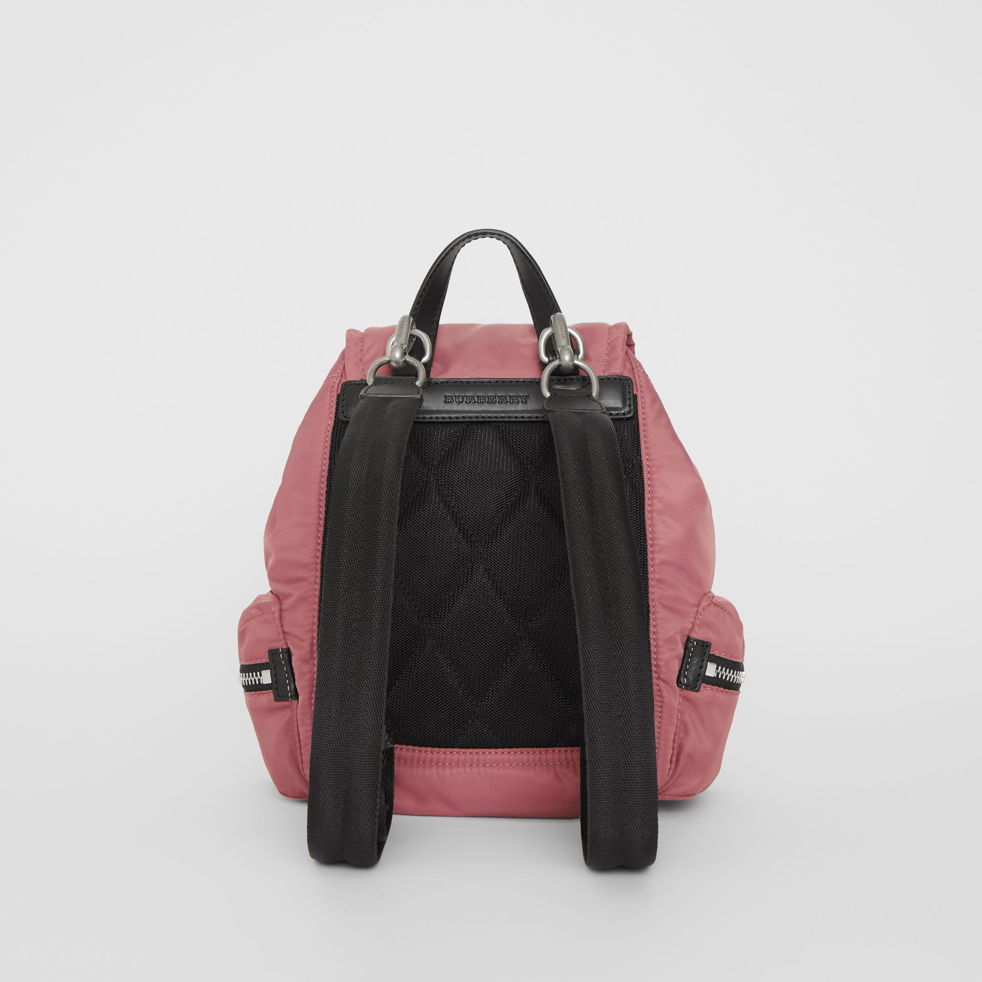 The Small Crossbody Rucksack in Puffer Nylon in Mauve Pink - Women | Burberry - gallery image 8